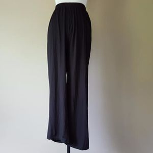 Black Pants Medium Poly Cotton Spandex Blend